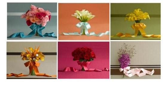 Sandals wedding bouquet