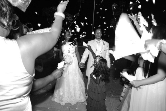 confetti jamaican wedding