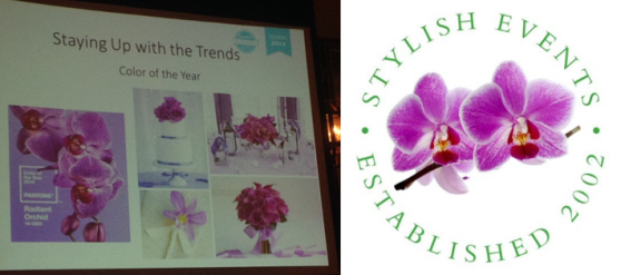 stylish events in trend colour