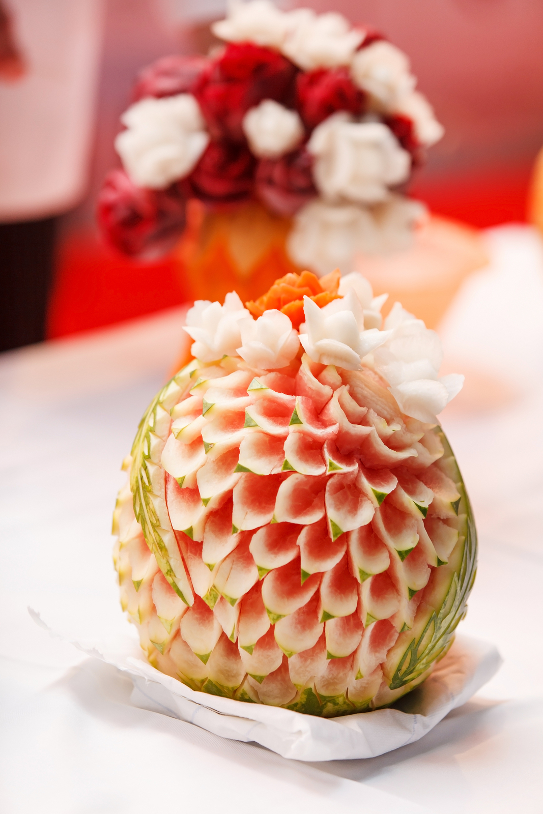 Watermelon i fruit carving