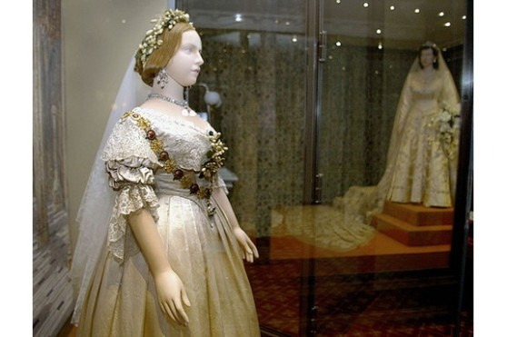 ''A Century of Queens Wedding Dresses'' Exhibition , London.